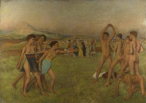 Плакат Young Spartans Exercising