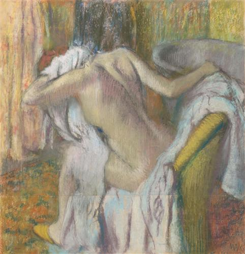 Постер на подрамнике After the Bath, Woman drying herself