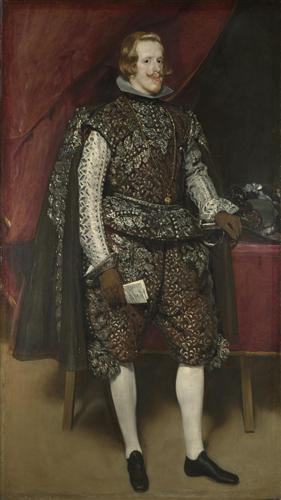 Постер на подрамнике Philip IV of Spain in Brown and Silver