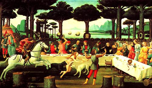 Плакат The story of the Nastagio degli Onesti