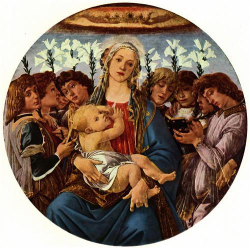 Плакат Madonna with eight singing angels