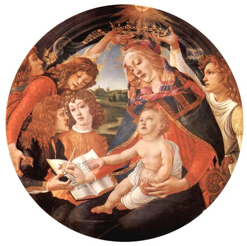 Плакат Madonna with Christ Child and Angels