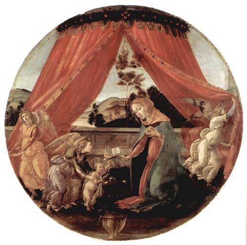 Плакат Madonna with Christ child and 3 angels