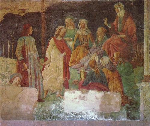 Плакат Lorenzo Tornabuoni before Allegorien sieve free arts (fragment)