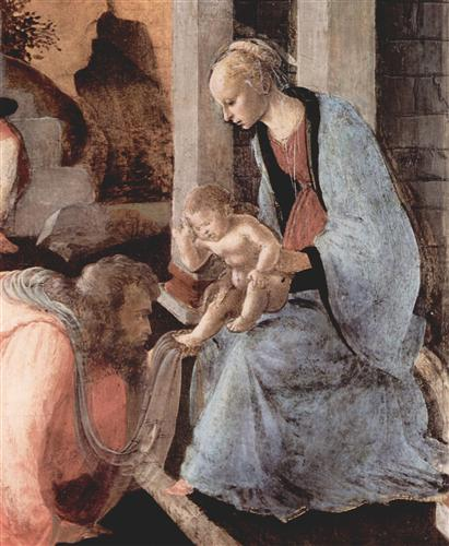 Плакат Adoration of the Holy three Kings (detail)