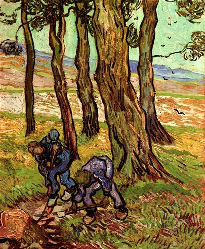 Постер на подрамнике Two Diggers Among Trees