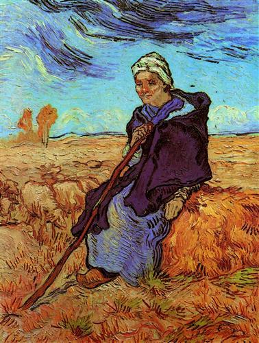 Постер на подрамнике Shepherdess, The after Millet