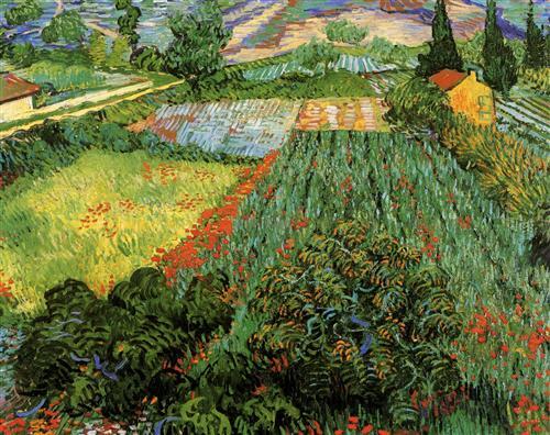 Постер на подрамнике Field with Poppies
