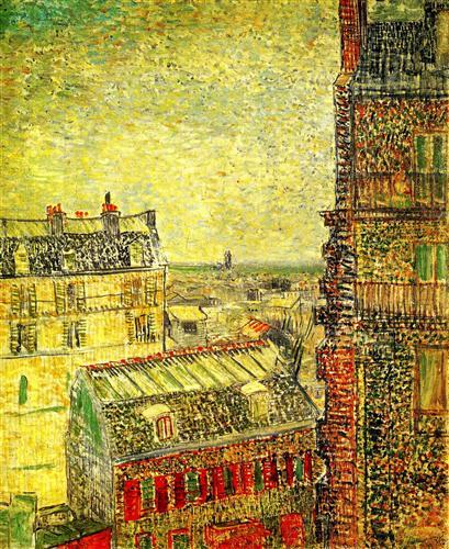 Постер на подрамнике View of Paris from Vincent s Room in the Rue Lepic
