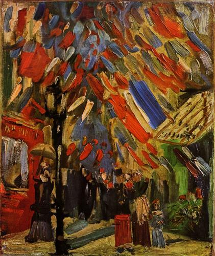 Постер на подрамнике The Fourteenth of July Celebration in Paris