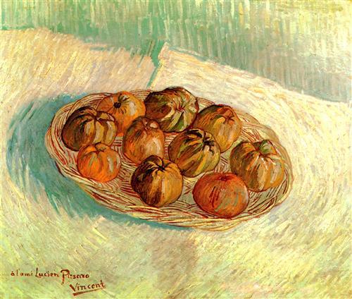 Постер на подрамнике Still Life with Basket of Apples to Lucien Pissarro