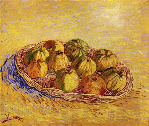 Постер на подрамнике Still Life with Basket of Apples