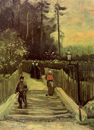 Постер на подрамнике Sloping Path in Montmartre