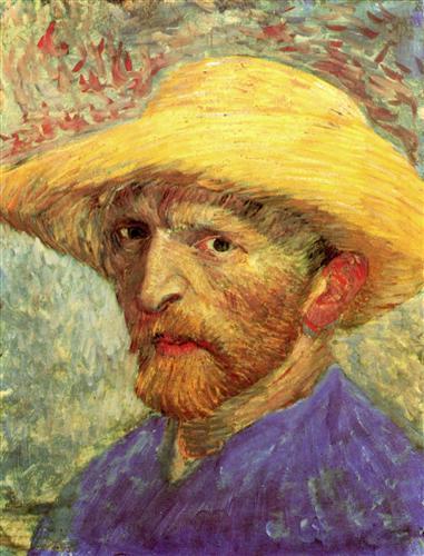 Постер на подрамнике Self-Portrait with Straw Hat 3