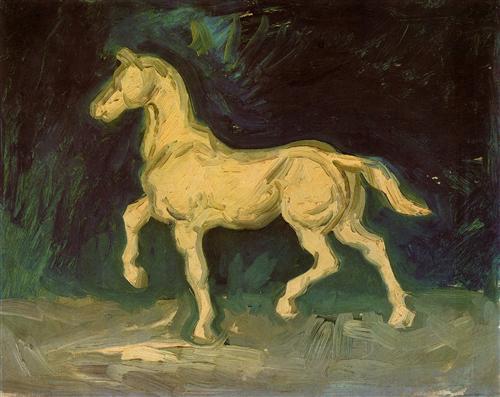 Постер на подрамнике Plaster Statuette of a Horse