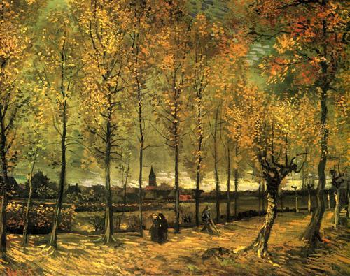 Постер на подрамнике Lane with Poplars