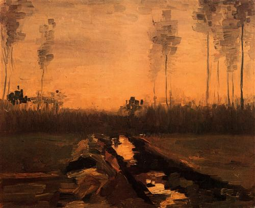 Постер на подрамнике Landscape at Dusk