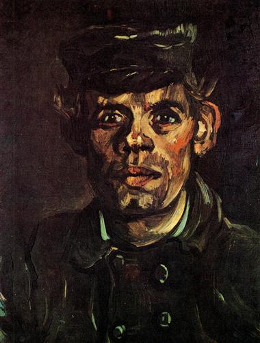 Постер на подрамнике Head of a Young Peasant in a Peaked Cap