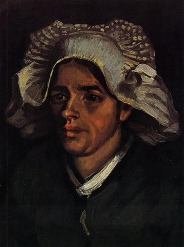 Плакат Head of a Peasant Woman with White Cap 2