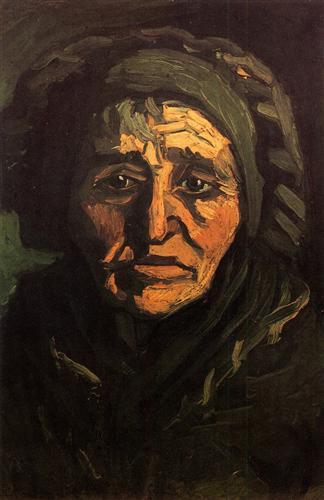 Постер на подрамнике Head of a Peasant Woman with Greenish Lace Cap