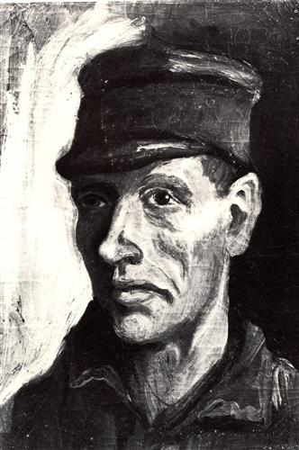 Постер на подрамнике Head of a Peasant with Cap 2