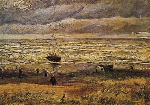 Постер на подрамнике View of the Sea at Scheveningen
