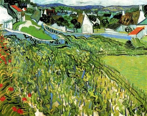 Постер на подрамнике Vineyards with a View of Auvers