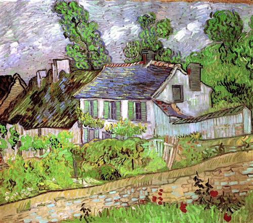 Постер на подрамнике Houses in Auvers 2