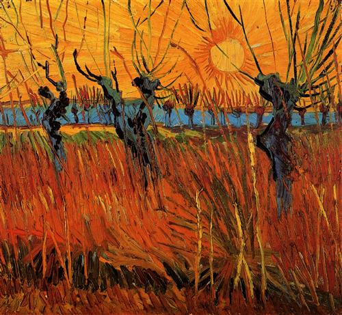 Постер на подрамнике Willows at Sunset