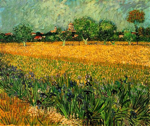 Постер на подрамнике View of Arles with Irises in the Foreground
