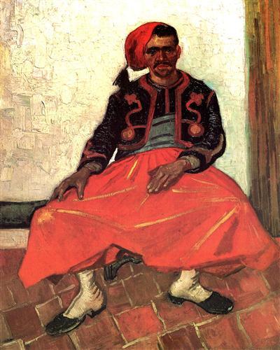Постер на подрамнике The Seated Zouave