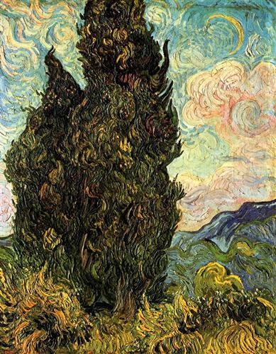 Постер на подрамнике Cypresses