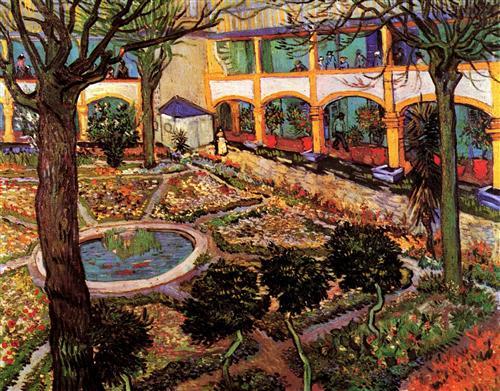 Постер на подрамнике The Courtyard of the Hospital at Arles