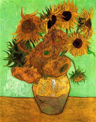 Постер на подрамнике Still Life Vase with Twelve Sunflowers 2
