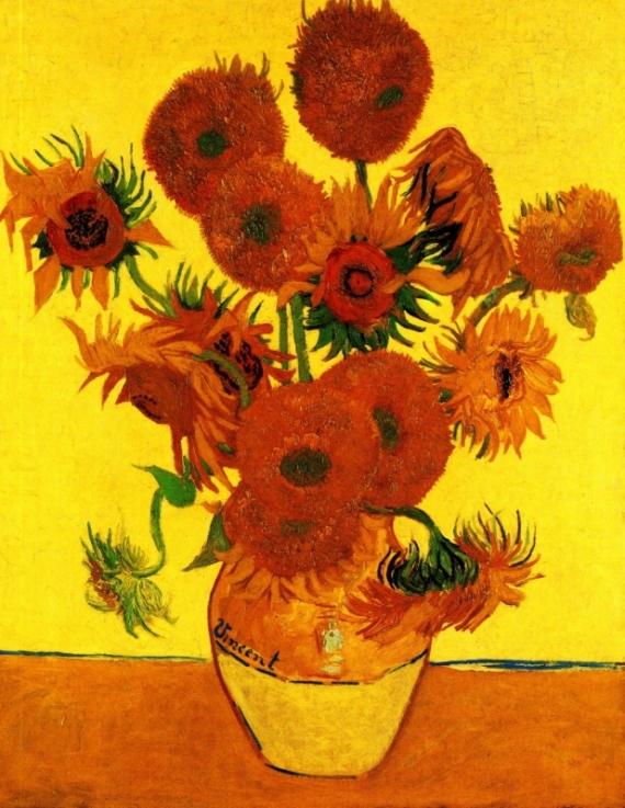 Постер на подрамнике Still Life Vase with Fifteen Sunflowers 3