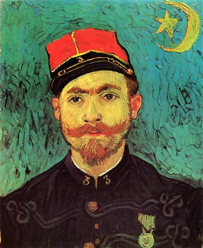 Плакат Portrait of Milliet, Second Lieutenant of the Zouaves