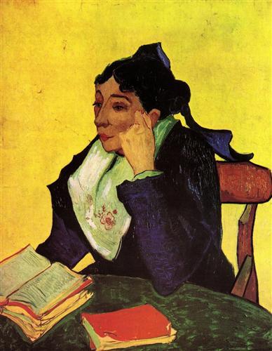 Постер на подрамнике L Arlesienne Madame Ginoux with Books