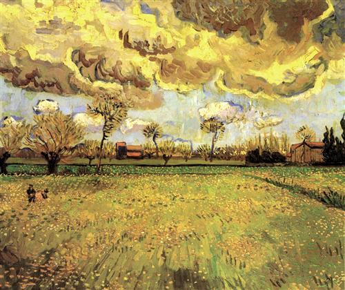 Постер на подрамнике Landscape Under a Stormy Sky