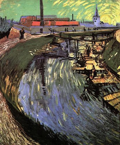 Постер на подрамнике Canal with Women Washing