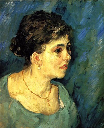 Постер на подрамнике Portrait of Woman in Blue