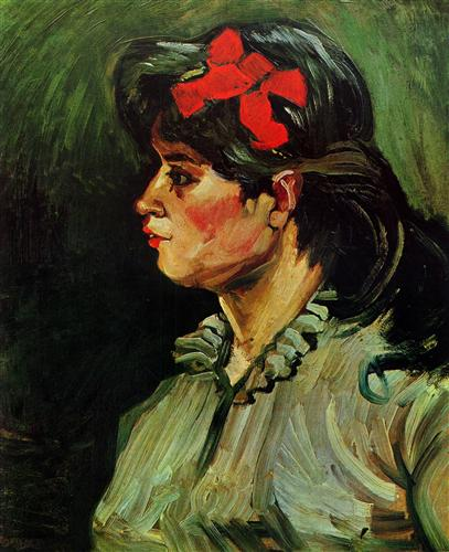 Постер на подрамнике Portrait of a Woman with Red Ribbon