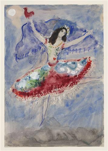 Постер на подрамнике Zemphira, costume design for Aleko (4)