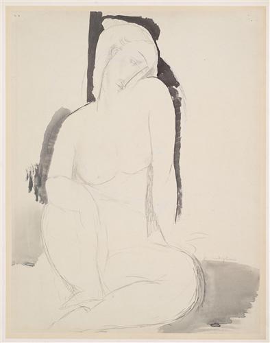 Постер на подрамнике Seated Nude