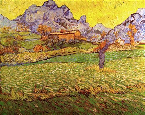 Постер на подрамнике A Meadow in the Mountains Le Mas de Saint-Paul