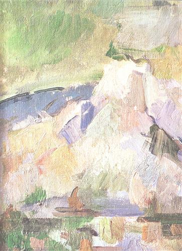 Постер на подрамнике La montagne Sainte-Victoire Detail (vers2)