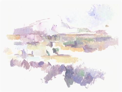 Плакат Montagne Sainte-Victoire vue des Lauves