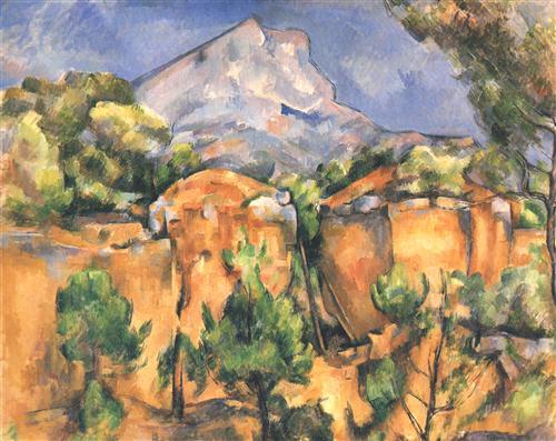 Плакат Montagne Sainte-Victoire vue des Carrieres de Bibemus (vers)