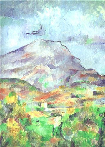 Постер на подрамнике La Montagne Sainte-Victoire Detail (vers)