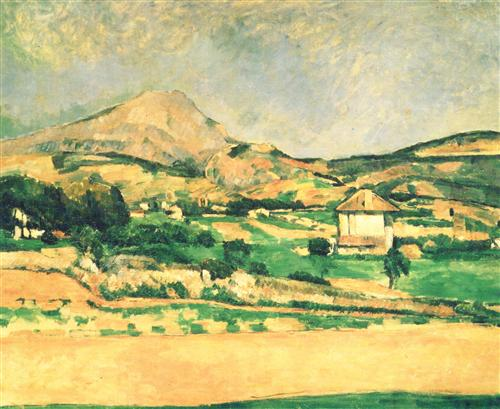 Плакат Paysage de la montagne Sainte-Victoire