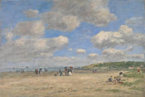Плакат The Beach at Tourgeville-les-Sablons